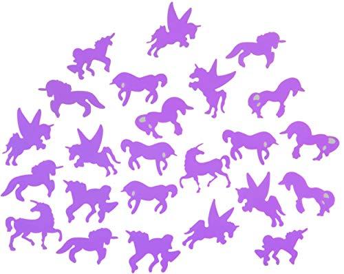 LG-Imports Pegatinas para techo que brillan en morado oscuro, unicornio, 24 piezas.