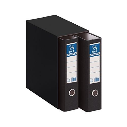 Dohe Archicolor - Modulo 2 archivadores A4, color negro