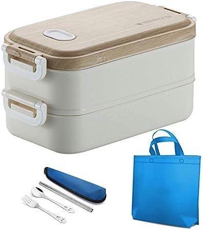 Fiambrera Picnic Portátil De Acero Inoxidable Cmpartments Box Lunch For Los Niños Oficina De Comidas For Adultos Envase De Alimento Bento Box Estilo Coreano (Color : D)