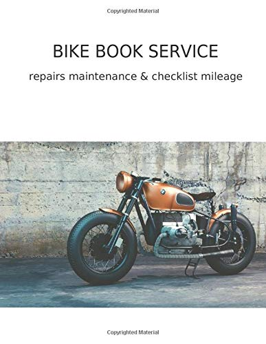 BMW Bike Service Book: Repairs Maintenance & Checklist Milage