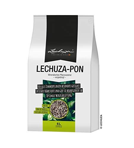 LECHUZA PON Pflanzsubstrat, 6 l, Mineralgestein, Allergiker geeignet, Inklusive Langzeitdünger, Alternative zu herkömmlicher Erde, 19561
