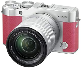Fujifilm X-A3 - 24.3 MP Mirrorless Digital Camera with 16-50 mm and 50-230 mm Lenses Kit, Pink
