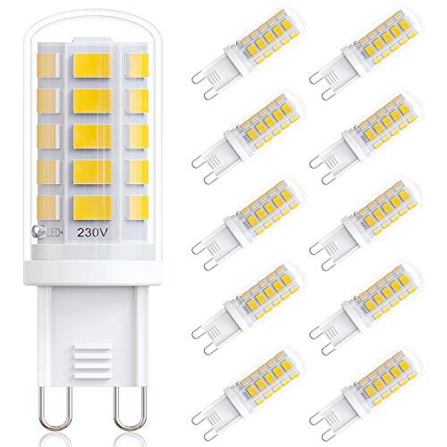 Ampoule G9 Led VITCOCO Lot de 10 Ampoules 4.5W Blanc Chaud Économie d'énergie Ampoule Classe Énergétique