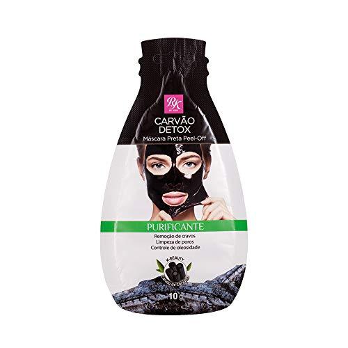 Rk by kiss máscara preta peel off carvão detox sachê 10g, Rk By Kiss