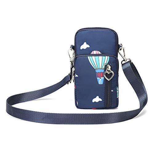 Hüfttasche Waist Bag Handytasche, Handy Umhängetasche Mädchen, Canvas Universal Handytasche zum Umhängen Kartentasche Geldbörse Kleiner Taschen Damentasche für Frauen Kinder, Phone (B)