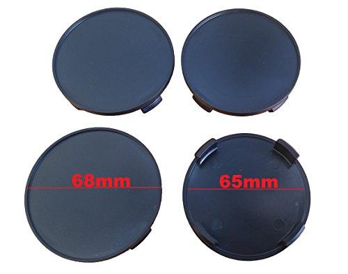 Born 1 Juego de 4 tapacubos de 68 mm, color negro, aptos para llantas con diámetro interior de 64,5-65 mm