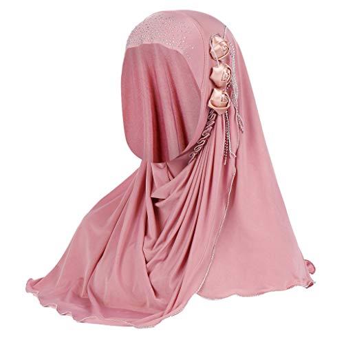 ZEELIY Damen Turban Hut Hals Chemo Kappe Haar Kopftuch Islamischen Abaya Dubai Frauen Elegante Gesichtsschleier Hidschab Schal Ramadan Kopfbedeckung Hijab