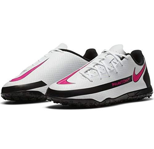 Nike Jr Phantom Gt Club Tf - Zapatillas deportivas, color blanco, rosa y negro, Blanco, rosa y negro., 30 EU