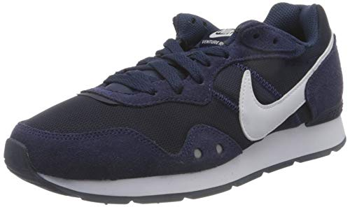 Nike Mens Venture Runner Sneaker, Midnight Navy/White-Midnight Navy,44 EU