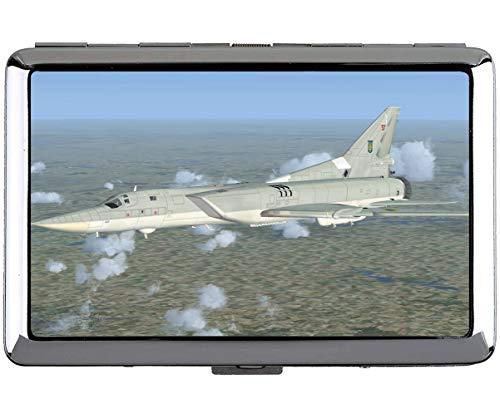 Silber Edelstahl Zigarettenetui, Fighter Simulator Kreuzfahrt Professional Visitenkartenetui