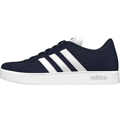 Adidas VL Court 2.0 K – Chaussures Sportives, Mixte Enfant, bleu (maruni/Ftwbla/Ftwbla) , 36 EU