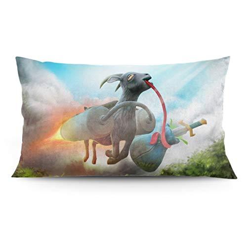 BLACKbiubiubiu - Fundas de almohada decorativas para simulador de cabra (50 x 91 cm)