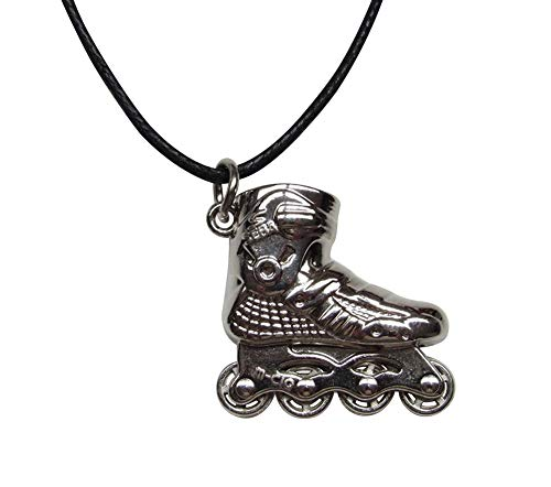 Unbekannt Générique Halskette mit Anhänger, Rollschuhe, silberfarben, Stahl