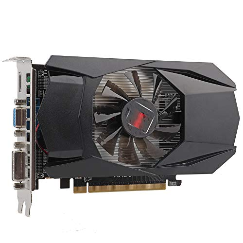 Graphics Card, HD7670 1GB Gaming Graphics Display Video Card 128Bit DDR5 Computer Components, 650MHz...