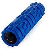 Vibrating Foam Roller - 4 Vibration Levels - Rechargeable - Trigger Point Therapy, Deep Tissue Massage, Muscle Recovery, Back Roller and Muscle Massager- Large, Blue