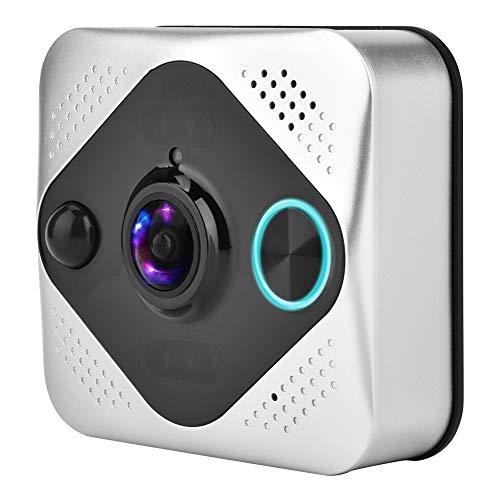 Video-deurbel, 1080p HD-video-intercominstallatie, panorama 190 graden, 8 maanden stand-by, app-overdracht, voor Android/iOS/Windows, Sopport TF-kaart, nachtzicht, snelle start, eenvoudige installatie