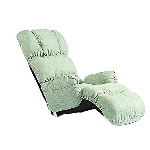 YLCJ Single Sofa Chair Lunch Simple Modern Sofa (linnen) + (kleur: Mint Green)