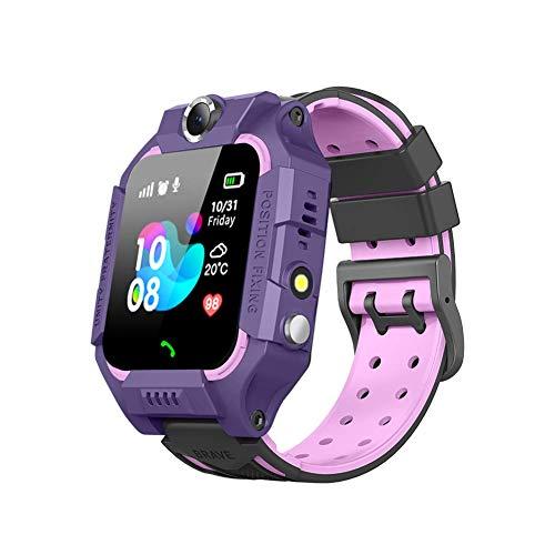 BOERSAND Kinder Smart Watch Phone, Kindersmartwatch für 3-12 Jährige Junge Mädchen mit SOS-Kamera Taschenlampe Touch-Screen-Spiel für Kinder Geschenk-Lernspielzeug,Purple-OneSize