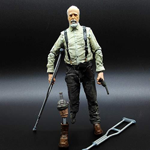 YYBB TV: The Walking Dead -Hershel Greene Vinyl Figure e Exquisite Box Collection vetrina Decorativa Giocattoli Popolari Personaggi 5 Pollici Figurines