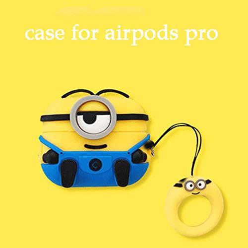 3D niedlichen Cartoon Minions weichen Silikon Bluetooth-Kopfhörer für Airpods 1 2 Fall für Apple für Airpods Pro Abdeckung Schutz Coque Capa, B (für Pro), China