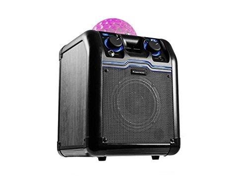 Omnitronic BeatRevel S   Mobile Bluetooth-Lautsprecher mit integriertem Lichteffekt   Kompaktes, mobiles Lautsprechersystem mit 50 Watt Peak-Leistung   Integrierte Discokugel sorgt für Partystimmung