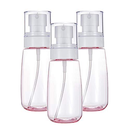 perfeclan 3 pièces Vaporisateur De Parfum Lotion En Plastique Portatif Avec Pompe D'atomiseur à Brume Fine - Rose