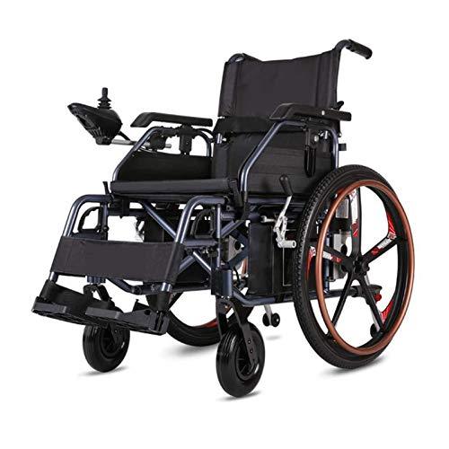 ZWYSL Leichter elektrischer Klapprollstuhl für Erwachsene, motorisierte All-Terrain-Elektrorollstühle im Freien, elektrisch betrieben oder als manueller Rollstuhl verwendet