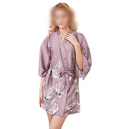 who-care Sexy Schwarz Mode Damen Kimono Robe Sommer Lady Rayon Bademantel Yukata...