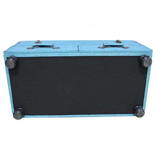 """17""""H Linen Layton Storage Trunk  - Blue"""