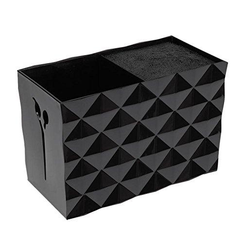 everpert Non Slip Socket Haarschere Kamm Haarspangen Aufbewahrungsbox Ständer Fall (schwarz)