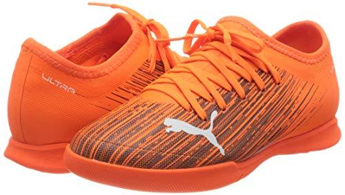 PUMA Unisex Kids ULTRA 3.1 IT Jr Football Shoe, Shocking Orange-Puma Black, 3 UK