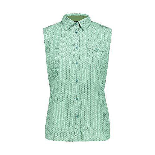 CMP Damen Camicia Smanicata Stretch Con Fantasia Floreale Hemd, Neptune-Leaf, D40