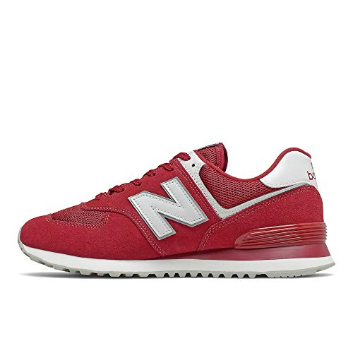 New Balance 574 Core Plus Pack, Zapatillas Hombre, Rojo Blanco, 43 EU