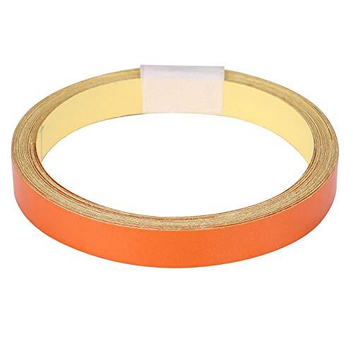 Auto reflektierende Klebeband Dekoration Aufkleber, Klebeband Roll Streifen 1cm 5m Warnband Dekoration Aufkleber Sicherheit Warnstreifen Aufkleber für Auto Motorrad Fahrzeugkarosserie(Orange)