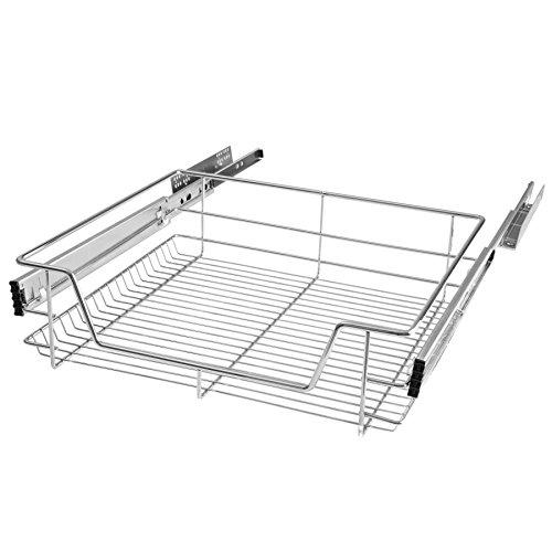 TecTake Teleskopschublade Küchenschublade Schlafzimmerschublade - Diverse Größen - (Passend für 60cm | Nr. 402017)