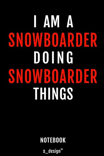 Notebook for Snowboarders / Snowboarder: awesome handy Note Book [120 blank lined ruled pages]