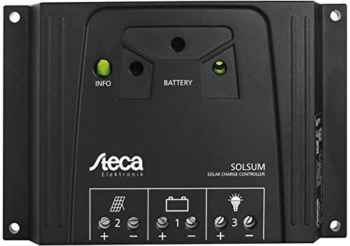 Steca Solsum 0808 Laderegler für Solar-Home-Systeme LED-Anzeige zum Ablesen des Batteriestatus