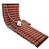 JFNV-Colchón Antiescaras con Bomba,Almohadilla De PVC De Masaje De Presión De Flujo De Aire Alterno Tubular para Ancianos O Pacientes Postrados En Cama