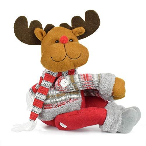 UMIPUBO Natale Sipario Fibbia in Velcro,Bambola di Natale,Fibbia Tenda Natalizia Babbo Natale Alce Pupazzo di Neve,Fissaggio Tende Fibbie,Decorazioni Natalizie,