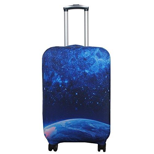 Funda protectora de spandex Luckiplus para maleta de viaje, tamaño 45,72-81,28 cm, estrella (Azul) - 10409004-AFN