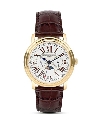 Frederique Constant Herren Analog Quarz Uhr mit Leder Armband FC-270EM4P5