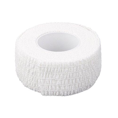 perfk Finger Tape atmungsaktive Sport Schutz Finger Bandage 4.5m x 2.5cm - Weiß