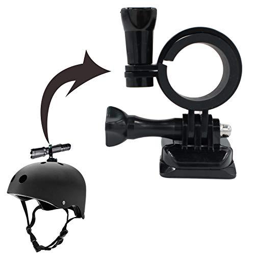 Soporte de linterna para casco Soporte de linterna para bicicleta Abrazadera de luz para bicicleta Soporte de linterna para casco portátil de múltiples ángulos Montaje de plástico