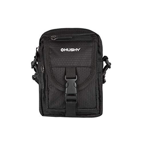 HUSKY MESH 1L in het zwart - schoudertas of heuptas voor documenten.
