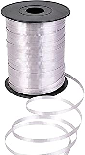 GiftExpress 500 Yards Silver Curling Ribbon/Balloon Ribbon/Balloon Strings/Gift Wrapping Ribbons Supplies