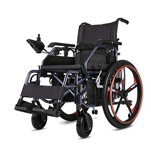 KILLM Electric Wheelchair, 2020 New Folding Ultra Lightweight Electric Wheelchairs for Adults, Outdoor All Terrain Motorized Power Wheelchairs