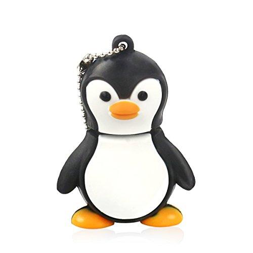 DDGE DMMS Hamikii16 GB USB-Speicherstick (USB 2.0, niedlicher Baby-Pinguin) Schwarz/Weiß