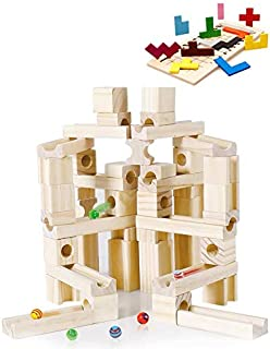 Good Baby ビ-玉転がし 60PCS 玉転がし 積み木 木製 立体パズル 知育玩具 おもちゃ プレゼント付き