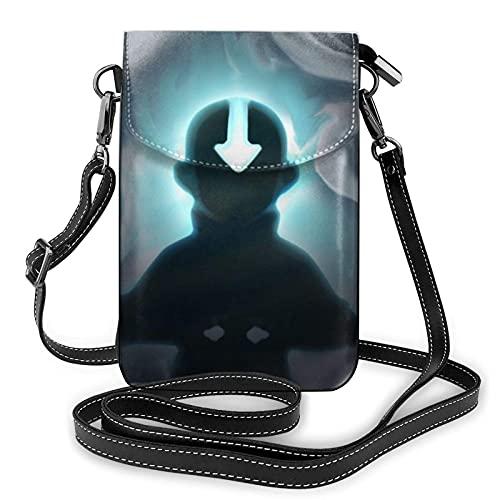 XCNGG Kleine Geldbörse Anime Avatar The Last Airbender Crossbody Bags for Women's Crossbody Handbags Cell Phone Purse Waterproof Leather Handbags Small Wallet
