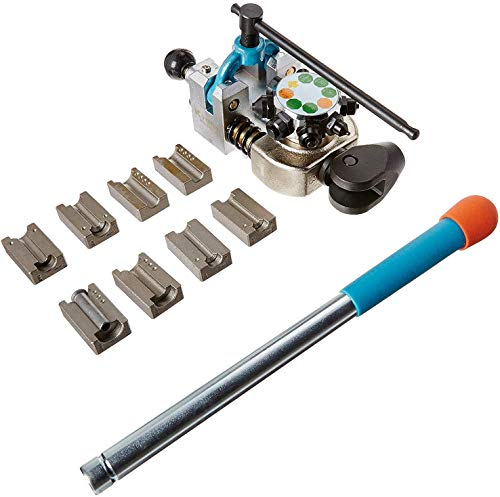 K Tool International Brake Line Flaring Tool, 45 Degree Set. Single, Double, and Bubble Flares, Vise-Mounted, T-Handle Screw Clamp, Easy to Use ; KTI70081